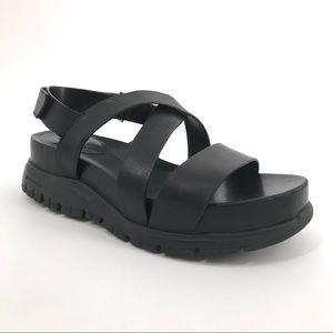 Cole Haan ZeroGrand Leather Cross Sandal Sz 6.5